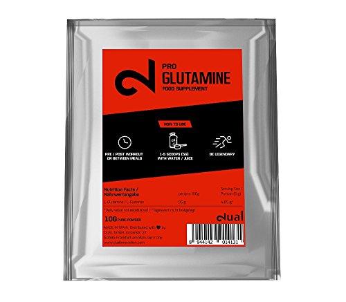 Dual Pro Glutamine | Glutamina 100 Porcineto Pura | Glutamina En Polvo | Suplemento Para...