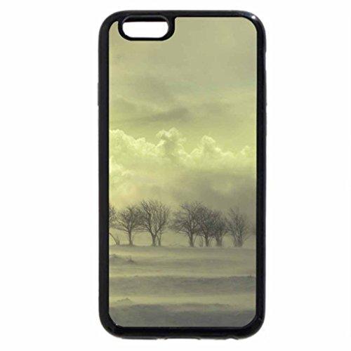 iPhone 3S/iPhone 6Coque (Noir) Amazing Paysage d'hiver par temps humide