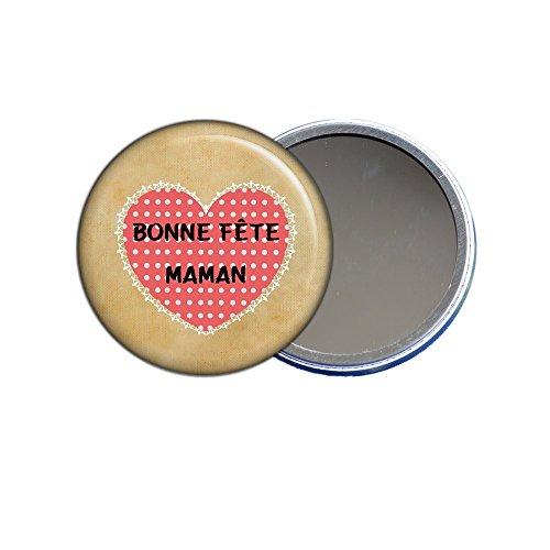 Miroir de poche - Bonne fête maman