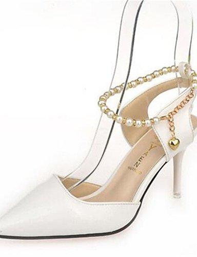 WSS 2016 Chaussures Femme-Habillé-Rose / Blanc / Beige-Talon Aiguille-Talons-Talons-Similicuir white-us6 / eu36 / uk4 / cn36