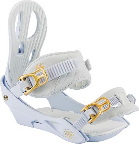 Nitro Snowboards Damen Rythm Bdg.'18 Snowboard Bindung, White Gold, S -