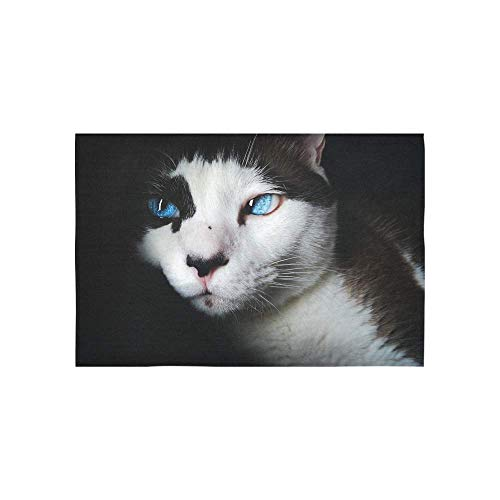 Alfreen Tapestry Art Decor, Siamese Blue Eyes Cute Feline Animal Cat Cute F Tapestries Wall Hanging Flower Psychedelic Tapestry Wall Hanging Indian Dorm Decor for Living Room Bedroom