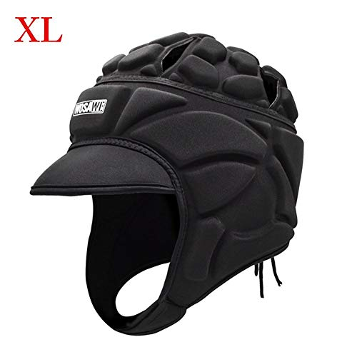 Ritapreaty Fußballtorwart-Helm, weich gepolsterte Kopfbedeckung für Fußballtorwart-Kopfschutz, Trainingsanzug-Rippenschutz