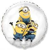 Minions rund weiss Jerry, Dave, Stuart Folienballon Heliumballon 45cm