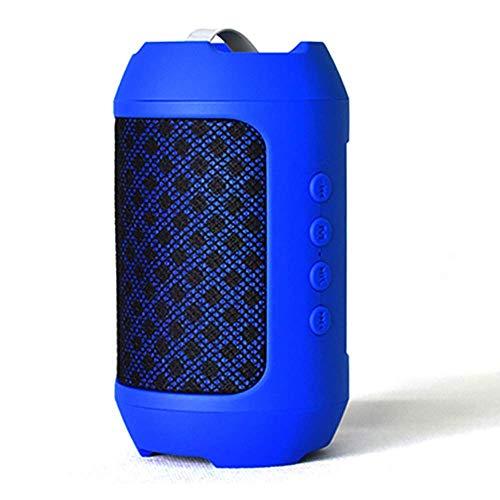 JOLLY Drahtloser Bluetooth-Lautsprecher Tragbarer Übergewicht Subwoofer Home Car Outdoor Sports Volume (Farbe : Blau) - Subwoofer Abs Kabel