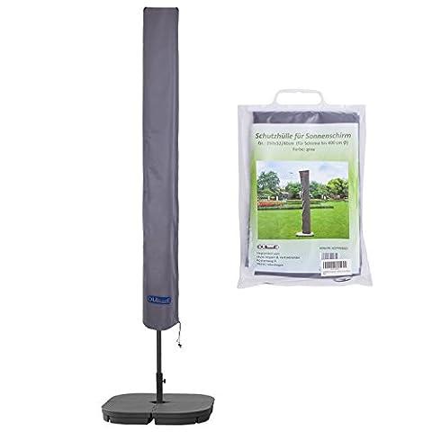 Schutzhülle für Sonnenschirm bis ca. Ø 400cm Premium Qualität aus hochwertigem 300GSM 600D Oxford Material - (Runde Gartenbank)