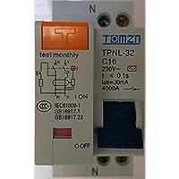 Interruptor diferencial 16A 30mA curva AC
