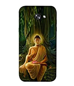 PrintVisa Lord Buddha 3D Hard Polycarbonate Designer Back Case Cover for Samsung Galaxy A7 (2017) A720