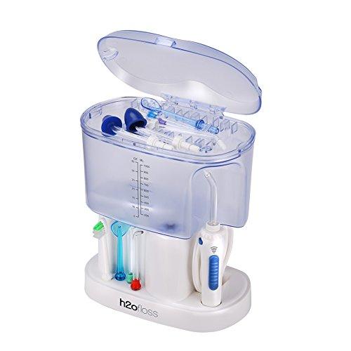 GHB Elektrische Munddusche PRO 1000ML Zahnreiniger für Zahnpflege und Zahnzwischenräume Reinigung 11 Düsen