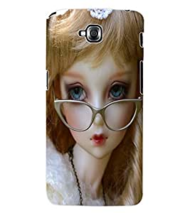 ColourCraft Cute Doll Back Case Cover for LG G PRO LITE D680