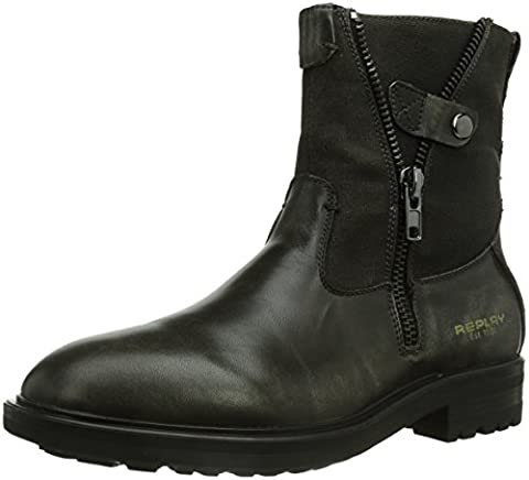 REPLAY Cottage, Herren Biker Boots, Grau (CH GREY 14), 44 EU (10 Herren UK)