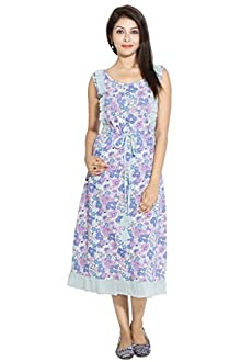 ba635e6636 Forever9teen Printed Night Dress with Frill Detailings3SS16-1172-N1)