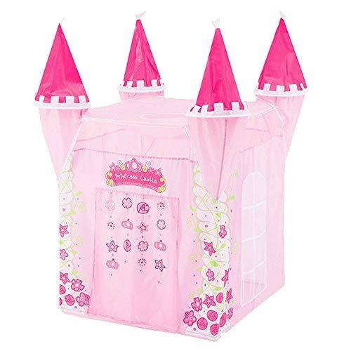 Schloss Kinder Zelt, Spielen Zelt Haus für Kinder, Kinder Zelt Mädchen, Kinder Zelt Lernspielzeug, Kinder Zelte Indoor, Zelthaus Rosa,, Tragetasche ()