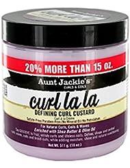 Crème de définition de boucles Curl La La - Enrichie en beurre de karité et en huile d'olive - Pot de 511 g (18oz)