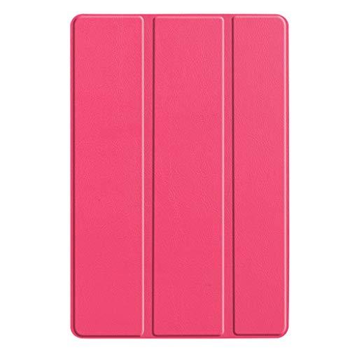 Takkar Hülle für Huawei Mediapad M6 10.8 2019, Ultra Schlank Slim Schutzhülle Hochwertiges PU Intelligent Schutzhülle mit Auto Schlafen/Wachen für Huawei Mediapad M6 10.8Zoll (Hot Pink)