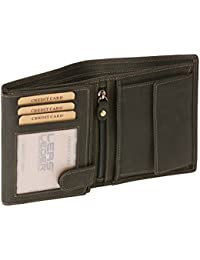 Portefeuille pour homme et femme LEAS MCL, cuir véritable, noir - ''LEAS Basic-Vintage-Collection''