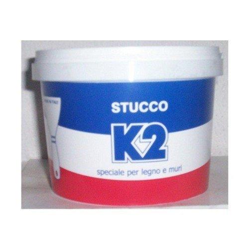 Stucco in pasta 'K2' Stuck weiß für Möbel, Fenster und Wände. Und 'geruchlos, nicht imputridisce, daher immer einsatzbereit. Speziell für Innenwände.