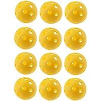 Crestgolf 40 mm flusso d'aria Giallo di palline da golf pratica golf, palline da golf Hollow, confezione da 12 pezzi