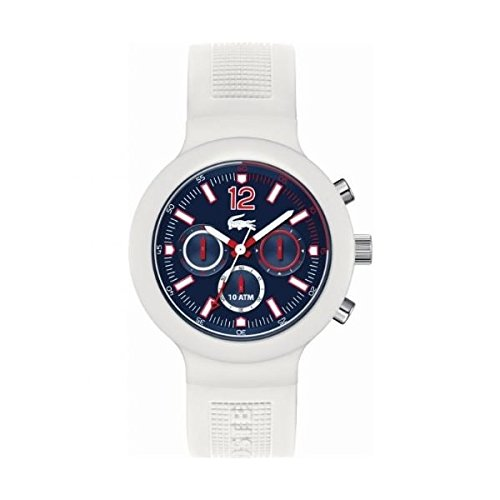 Lacoste 2010705 44mm Plastic Case White Rubber Mineral Men's Watch