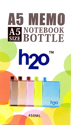 A5 h2o International water bottle Memo Water Bottle 450 ml