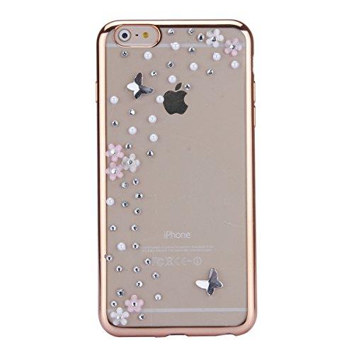 iPhone 6 Hülle,iPhone 6s Case,iPhone 6 Bling Case - Felfy Ultradünne Transparent Gel TPU Silikon Diamond Skin Bling Glitte Kristall Schutzfolie Glitzer Silber Silikon Crystal Case Durchsichtig Schutzh C01