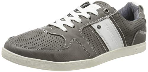 TOM TAILOR Herren 695100130 Sneaker, Grau (Grey 00011), 42 EU