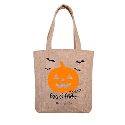 Felicove Damen Schultertasche, Halloween Süßigkeitstasche Geschenktüte Canvas Tote Lässige Strandtaschen Einkaufstasche Handtasche