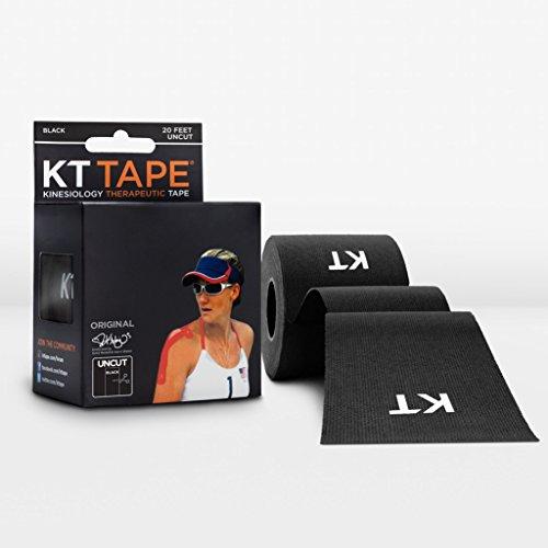 KT Tape Original Baumwolle ungeschliffen Kinesiologie M schwarz (Athletic Tape Usa)
