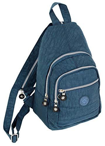 Leichte Farbe (Kleiner Daypack sportlicher sehr leichter City- Rucksack Trekking crossbody Backpack Freizeit Fahrrad Sport Wandern Reise 6 Farben 2257 (Blau))