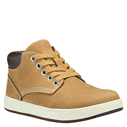 Timberland Unisex-Kinder Davis Square Leather Chukka Boots, Gelb (Wheat), 38 EU