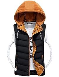 Chaleco De Invierno Cálido para Hombre Camisa De La Chaqueta De Clásico Moda Chaleco De Algodón