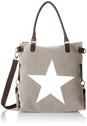 Bags4Less F3151, sac bandoulière femme - Gris - Gris (Velours-Grau Velours-Grau), 20x40x50 cm (B x H x T)