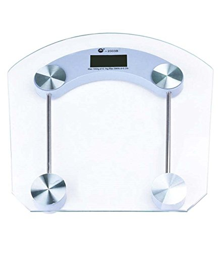 Slings Square shape Thick Glass Weighing Machine Digital Glass Bathroom Weight Scale Measurement  available at amazon for Rs.545