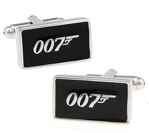 Unbekannt Travel 007Manschettenknöpfe Schwarz Farbe Fashion Neuheit James -