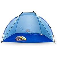 Andrina paraviento de playa, portable, protección UV 60, azul