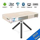 JOEAIS Mini Projecteur, WiFi Android 7.1 DLP Vidéoprojecteur Cinéma Maison 120' Grande Photo BT4.0...