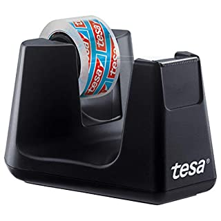tesa Easy Cut SMART Klebebandabroller für Tische / Kompakter Tischabroller mit Anti-Rutsch-Technologie für Klebefilm bis 10m x 15mm