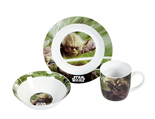 Star Wars 12492 Set en Porcelaine 3 Pièces Motif Yoda