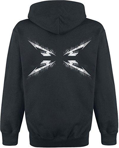 Metallica Spiked Logo Kapuzenpulli schwarz Schwarz