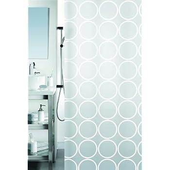 Spirella Ando PEVA Opaque Plastic Shower Curtain, 180 x 200 cm, White