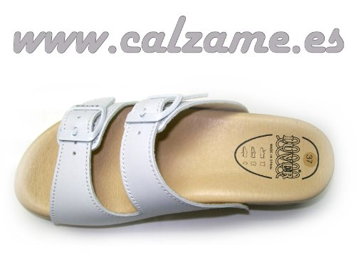 LUVER Sandales avec ressort 2101/A Plusieurs couleurs et tailles disponibles Blanc