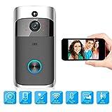 Timbre de video por WiFi, cámara de seguridad inalámbrica para el hogar, cerradura de la puerta del hogar inteligente 1080P, cámara IP para interiores con WiFi, con visión nocturna / voz bidireccional
