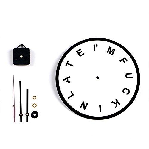 Dxnspf orologio da parete colorato e moderno elegante alla silenzioso senza ticchettio orologio della cucina / della casa / parete del salone 11 pollici spessore 4mm