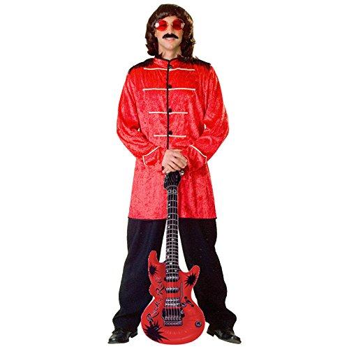 r. 50/54 Rot + aufblasbare Luftgitarre Beatles Kostüm (Beatle-kostüm)
