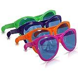 3 x Riesige Partybrille schrille bunte Riesenbrille Mega-Brille übergroße Brille