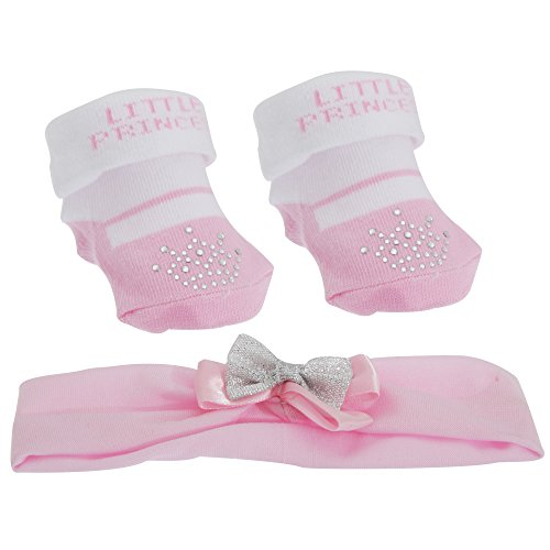 Baby Girls Princess Print Socks With Headband (6-12 Months) (Princess Crown)  available at amazon for Rs.619