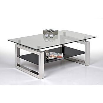 90x55x45 cm Schwarz DekoGlas IKEA Lack Beistelltisch