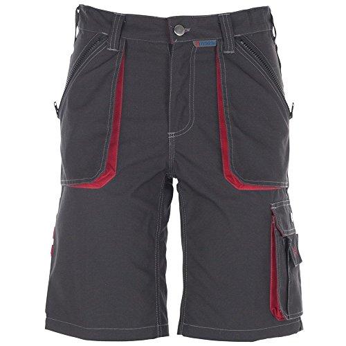 Planam Shorts Basalt, größe XL, anthrazit / rot / mehrfarbig, 2840056