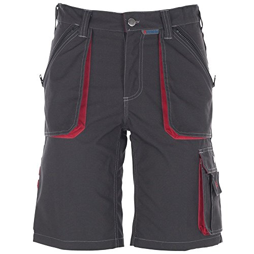 Planam Shorts Basalt, größe L, anthrazit/rot/mehrfarbig, 2840052