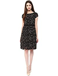 Marie Lucent Women's A-line Black Dress